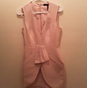 BCBG Clare Sleeveless draped dress with pockets